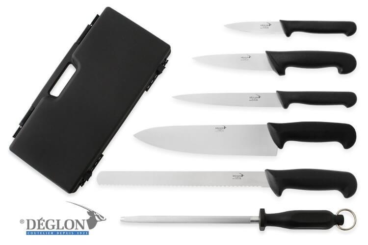 Mallette de 5 couteaux + 1 fusil Deglon Surclass