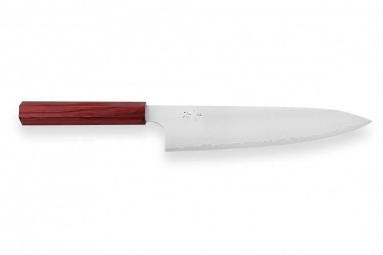 Couteau de chef japonais artisanal Kei Kobayashi SG2 24cm