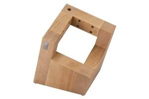 Bloc vide Artelegno Pisa bois de hêtre pour 8 couteaux de cuisine + 1 aiguiseur