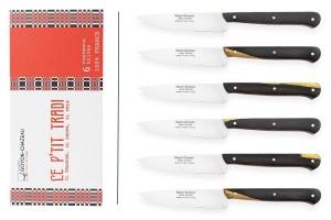 Coffret 6 couteaux d'office Le p'tit tradi Goyon-Chazeau 10cm manche grenadille