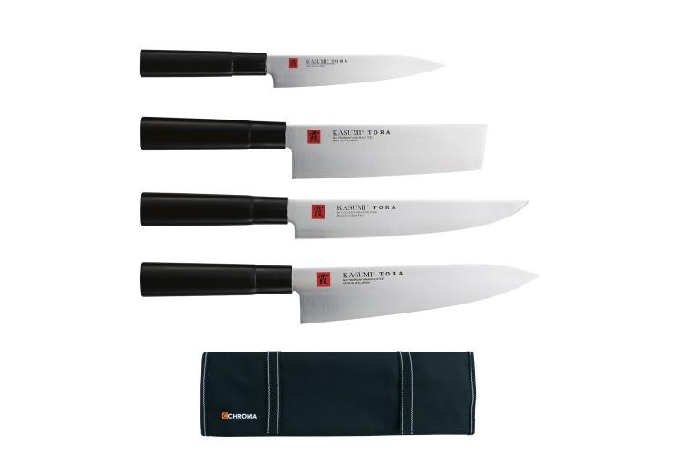 Mallette 4 couteaux de cuisine japonais Kasumi Tora