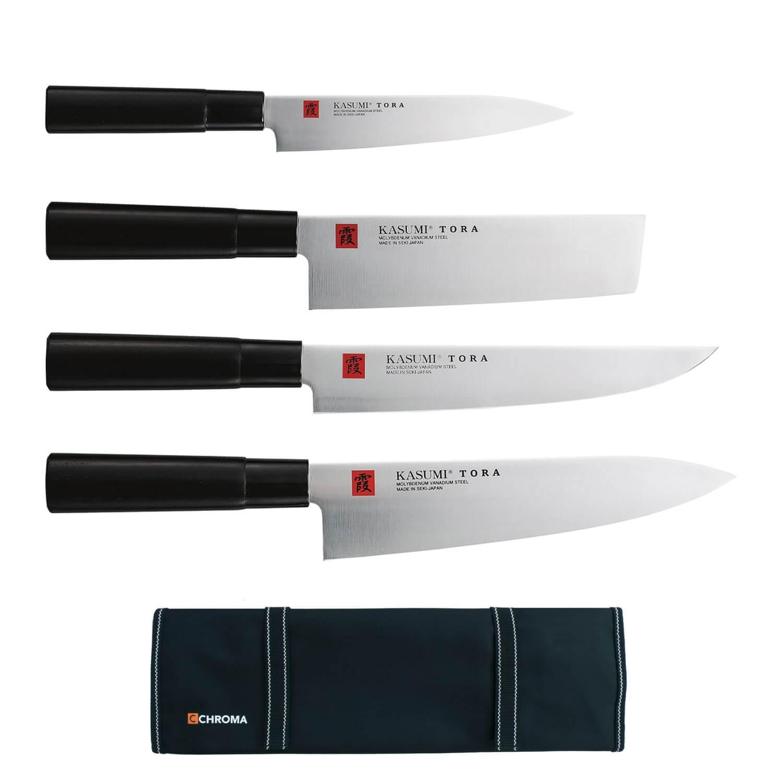 Kasumi Tora Mallette Cuisinier 4 Couteaux Japonais