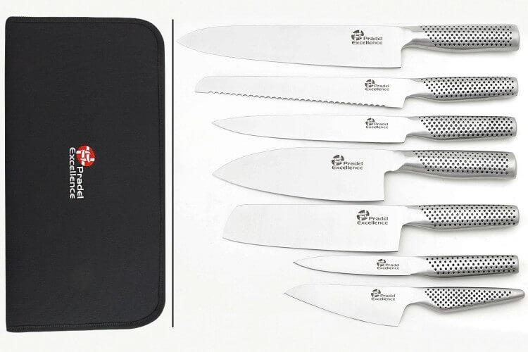 Mallette 7 couteaux de cuisine Pradel Excellence tout inox