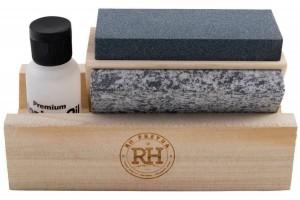Kit d'aiguisage RH PREYDA prisme 3 pierres d'Arkansas + huile