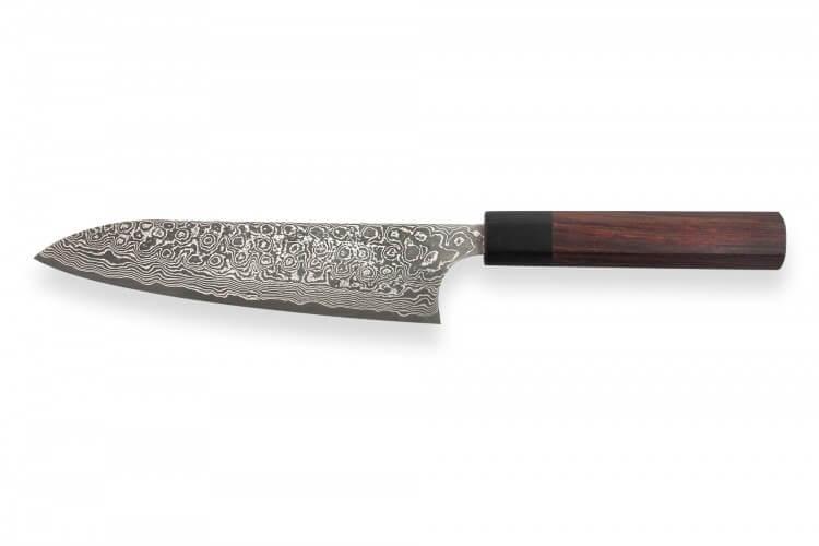 Couteau de chef japonais artisanal Masakage Kumo 18cm damas 63 couches