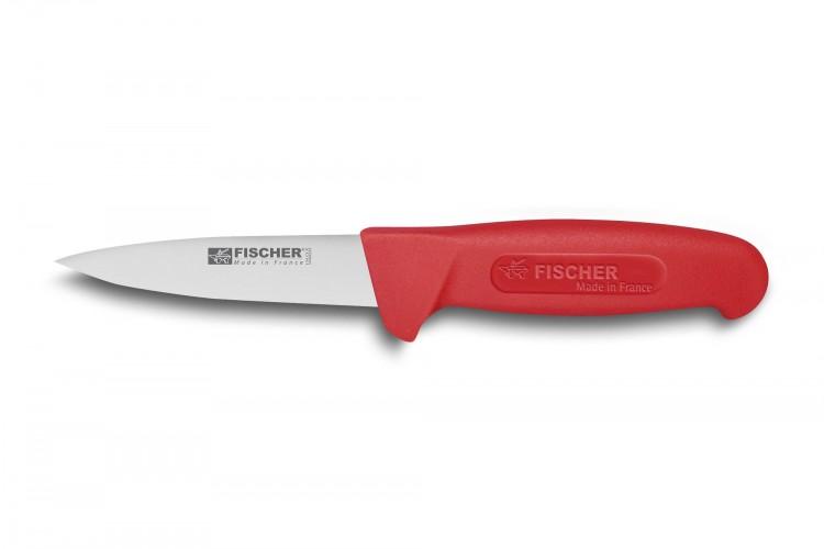 Couteau à saigner professionnel Fischer HACCP 11cm manche rouge