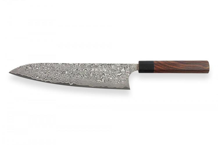 Couteau de chef japonais artisanal Masakage Kumo 24cm damas 63 couches