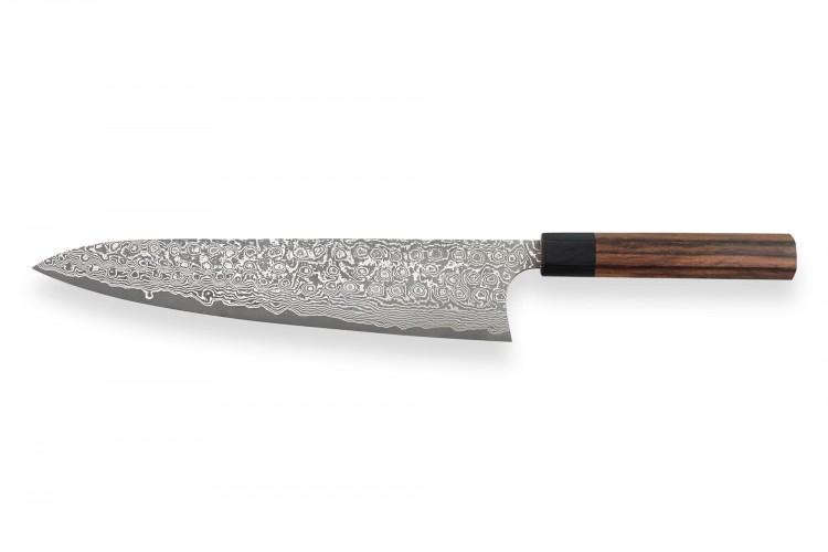 Couteau de chef japonais artisanal Masakage Kumo 27cm damas 63 couches