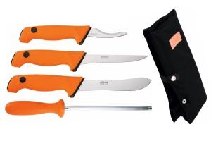 Mallette de 4 couteaux de boucher EKA acier sandvik