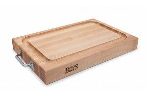 Planche à découper Boos Blocks bois d'érable avec poignées inox 46 x 31 x 6cm
