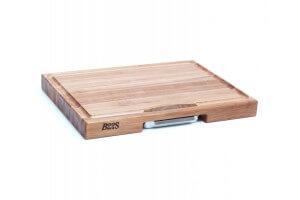 Planche Boos Blocks Prep Masters bois d'érable + plateau acier 61 x 46 x 6cm