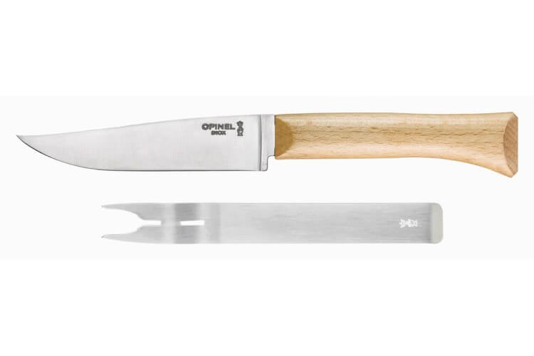 Set à fromage Opinel couteau lame 12,5cm + fourchette inox
