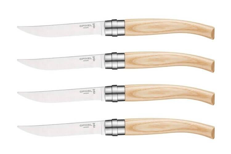 Coffret 4 couteaux Opinel Table Chic lame 10cm acier Sandvik