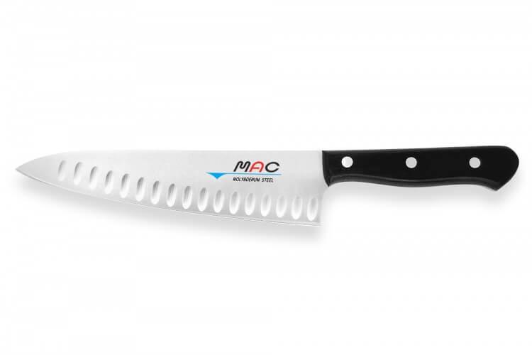 Couteau de chef japonais MAC Chef lame alvéolée 20cm
