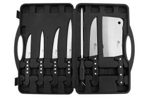 Mallette du boucher Pradel Excellence 6 couteaux + fusil à aiguiser