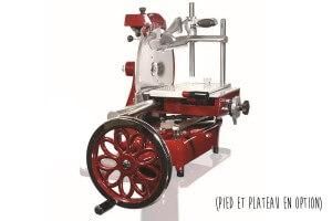 Trancheuse manuelle professionnelle à volant - Fonte rouge