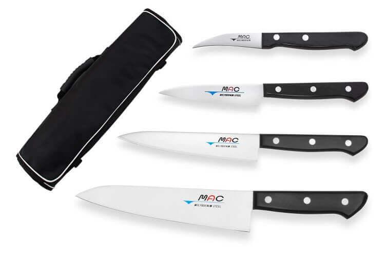 Mallette de 4 couteaux japonais MAC Chef