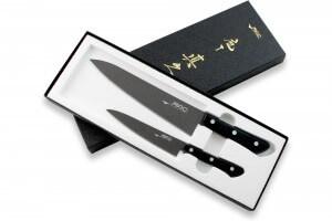 Coffret 2 couteaux japonais MAC Black Universel + Chef 21.5cm