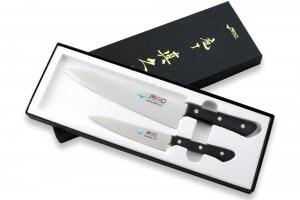 Coffret 2 couteaux japonais MAC Chef : Universel + Chef