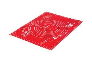 Feuille à pâtisserie Mastrad graduée en silicone rouge 30x40cm