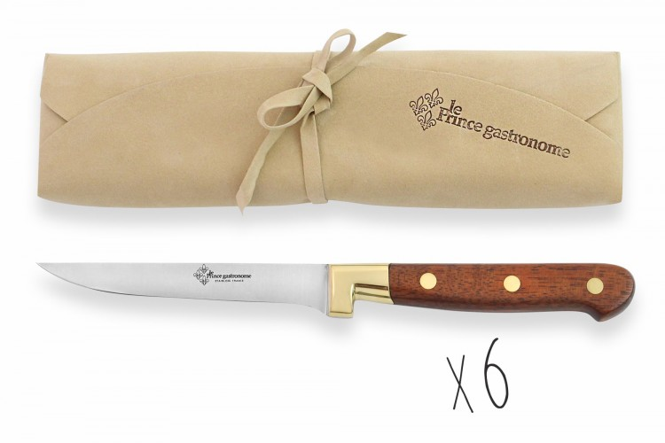 Pochette 6 couteaux à steak Au Nain Le Prince Gastronome