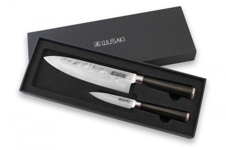 Coffret 2 couteaux Wusaki Ebony AUS8 ébène Chef + Office