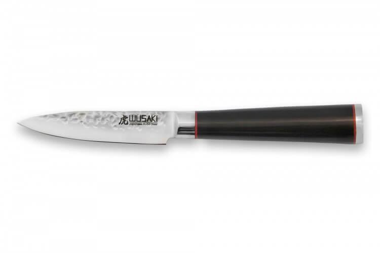 Couteau d'office Wusaki Ebony AUS8 9cm manche ébène vernis