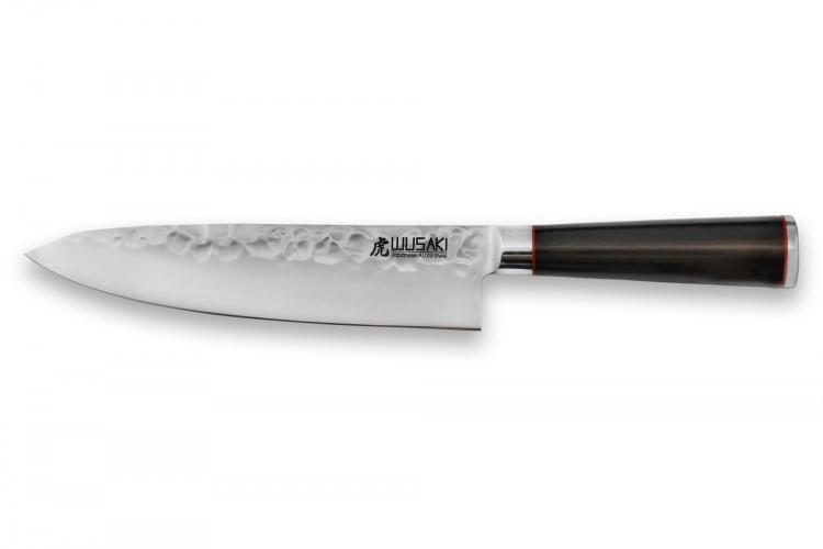 Couteau de chef Wusaki Ebony AUS8 20cm manche ébène vernis