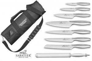 Mallette cuisinier Sabatier Fuso Nitro+ 7 couteaux fabrication française + 1 fusil