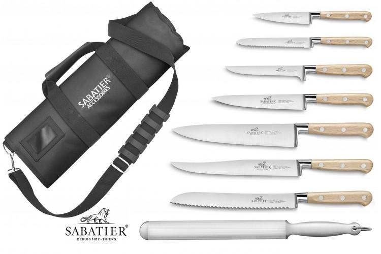 Mallette cuisine Sabatier Brocéliande 7 couteaux fabrication française + 1 fusil