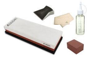 Pack spécial entretien pour couteaux en acier - Pierre 1000/3000