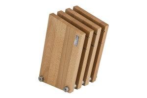 Bloc vide Artelegno Milano bois de hêtre pour 9 couteaux de cuisine