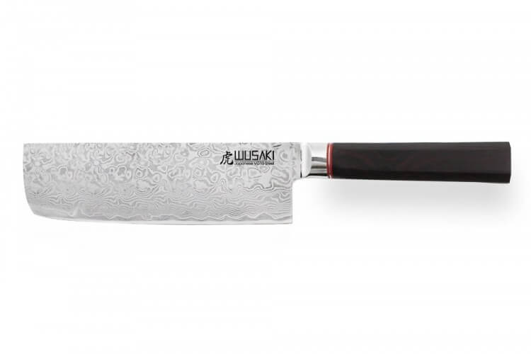 Couteau nakiri Wusaki Ebony VG10 17.5cm manche en ébène
