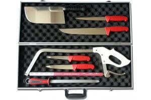 Malette de 7 couteaux professionnels BARGOIN pour Bouchers