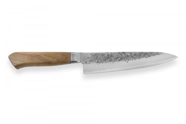 Couteau de chef japonais artisanal Wusaki Nogami BS2 18cm manche noyer