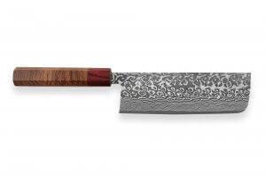 Couteau nakiri japonais artisanal Yoshimi Kato 16.5cm SG2 Damascus
