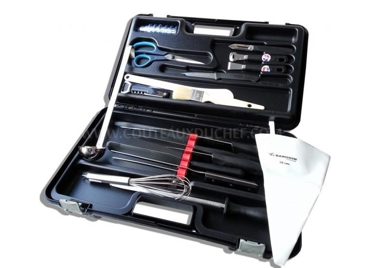 Malette de 24 couteaux professionnels BARGOIN pour Cuisiniers et Traiteurs