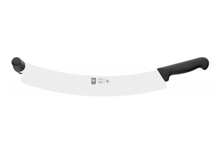 Couteau à fromage et pizza professionnel Icel 38cm double manche noir