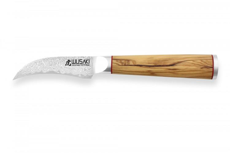 Couteau bec d'oiseau Wusaki Fujiko VG10 8cm manche olivier