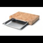 Planche à découper Continenta en bois 39x27x6cm + bac inox