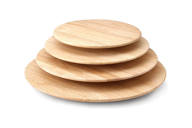 Planche de Rotation Continenta Plateau Tournant en Bois dH/év/éa Dimensions: /Ø 40/x 3,5/cm Plateau tournant Plateau /à Fromage