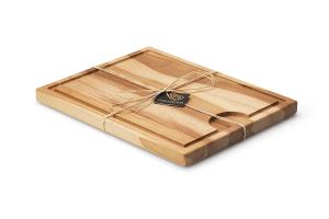Planche à découper Continenta en bois de hêtre + rigole