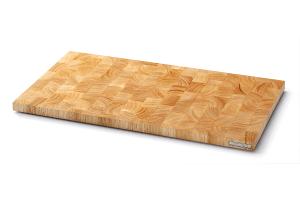 Planche à découper Continenta en bois d'hévéa 54x29x2,7cm