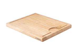 Planche à découper Continenta en bois d'hévéa + rigole