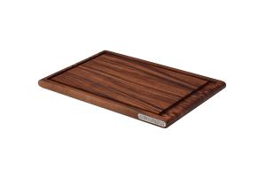 Planche à découper Continenta en bois d'acacia + rigole
