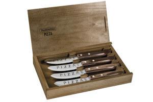 Set de 4 couteaux à pizza Tramontina Churrasco Premium manche marron