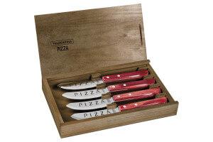 Set de 4 couteaux à pizza Tramontina Churrasco Premium manche rouge