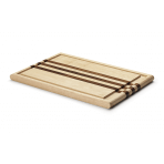 Planche à découper Continenta en bois d'hévéa 37x25x2cm avec rigole