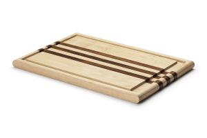 Planche à découper Continenta en bois d'hévéa 37x25x2cm + rigole