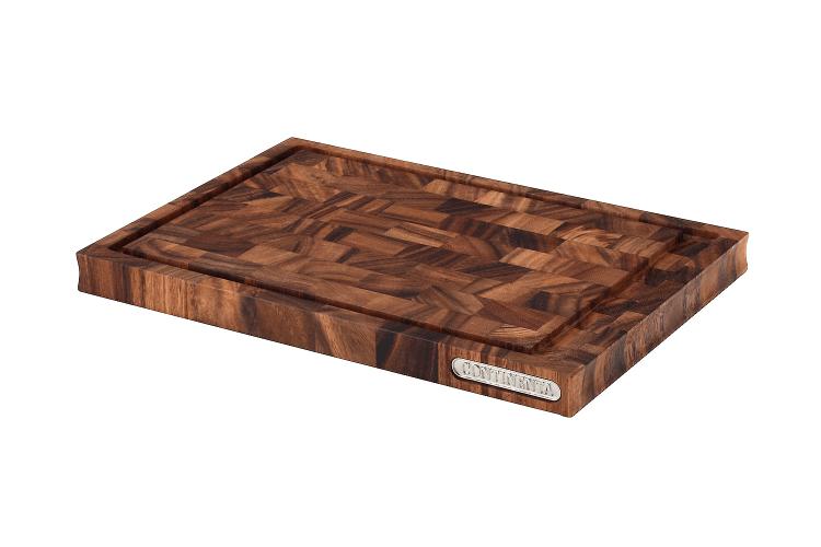 Planche à découper Continenta en bois d'acacia mosaïque + rigole